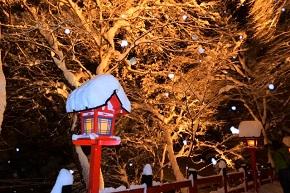 貴船神社 ライトアップ 雪