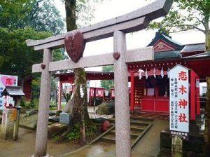 恋木神社ハートの鳥居