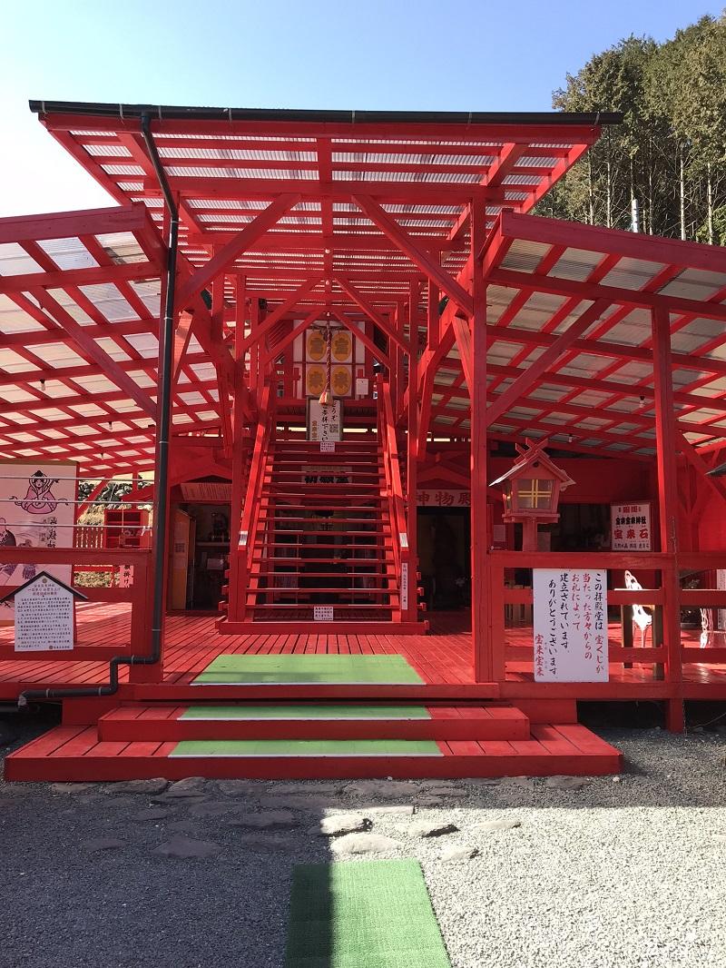 宝来宝来神社拝殿堂(阿蘇宝くじが当たる神社)