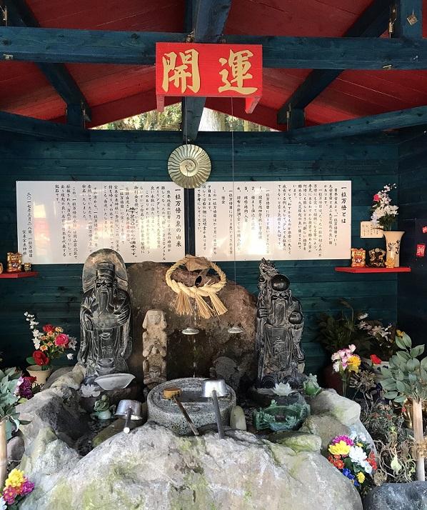 宝来宝来神社境内一粒万倍の泉(阿蘇宝くじが当たる神社)